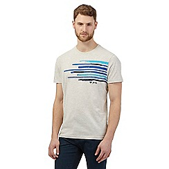 RJR.John Rocha - Big and tall cream striped applique t-shirt