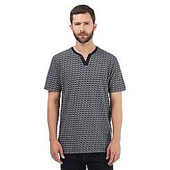 RJR.John Rocha - Navy spot print jacquard t-shirt