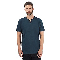 RJR.John Rocha - Big and tall dark turquoise textured notch neck t-shirt