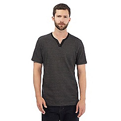 RJR.John Rocha - Big and tall black diamond textured notch neck t-shirt