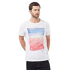 RJR.John Rocha - White colour block print t-shirt