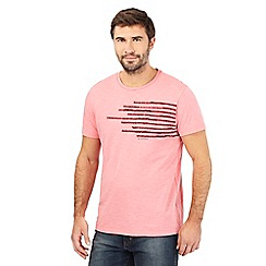 RJR.John Rocha - Pink squiggle line applique t-shirt