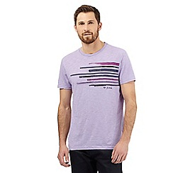RJR.John Rocha - Lilac paint striped t-shirt
