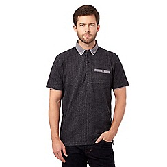 RJR.John Rocha - Black herringbone polo shirt