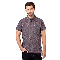 RJR.John Rocha - Purple floral trim polo shirt