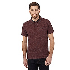 RJR.John Rocha - Big and tall dark red skyline polo shirt