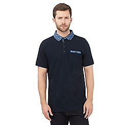 RJR.John Rocha - Big and tall navy floral polo shirt