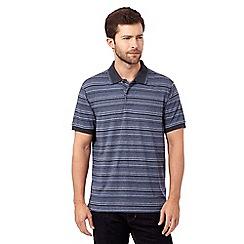 RJR.John Rocha - Big and tall blue textured stripe polo shirt