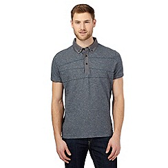 RJR.John Rocha - Blue textured striped polo shirt