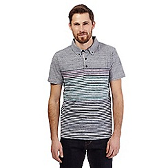 RJR.John Rocha - Grey striped print polo shirt