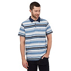 RJR.John Rocha - Blue stripe print denim collar polo shirt