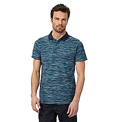 RJR.John Rocha - Blue pique space dye polo shirt