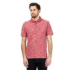 RJR.John Rocha - Red textured space dye polo shirt