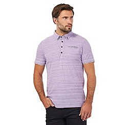 RJR.John Rocha - Purple textured floral print trim polo shirt