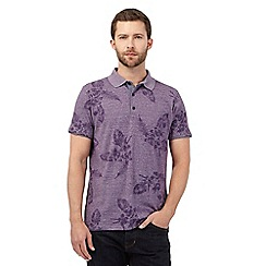 RJR.John Rocha - Purple leaf print polo shirt