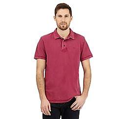 RJR.John Rocha - Dark pink textured polo shirt