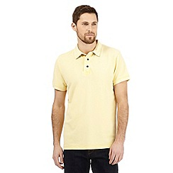 RJR.John Rocha - Big and tall yellow textured polo shirt