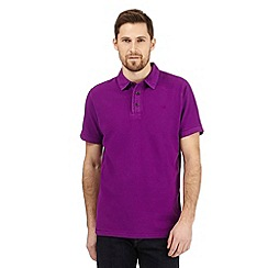 RJR.John Rocha - Bright purple textured polo shirt