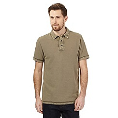 RJR.John Rocha - Khaki textured polo shirt