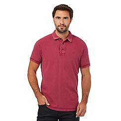 RJR.John Rocha - Big and tall dark pink textured polo shirt