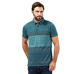 RJR.John Rocha - Dark turquoise striped polo shirt