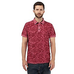 RJR.John Rocha - Big and tall dark pink botanical print polo shirt