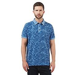 RJR.John Rocha - Blue botanical print polo shirt