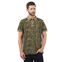 RJR.John Rocha - Big and tall khaki botanical print polo shirt