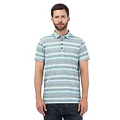 RJR.John Rocha - Green striped print polo shirt