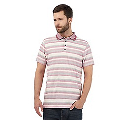 RJR.John Rocha - Big and tall pink striped print polo shirt