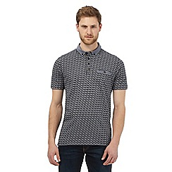 RJR.John Rocha - Grey abstract print polo shirt