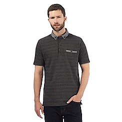 RJR.John Rocha - Big and tall black diamond textured polo shirt