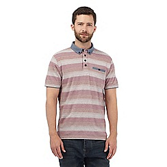 RJR.John Rocha - Big and tall pink striped woven collar polo shirt