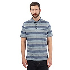 RJR.John Rocha - Blue striped woven collar polo