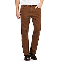 RJR.John Rocha - Big and tall tan bedford trousers