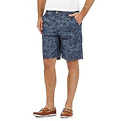 RJR.John Rocha - Big and tall blue floral print chambray shorts