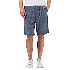 RJR.John Rocha - Big and tall navy linen blend shorts