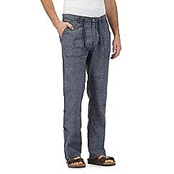 RJR.John Rocha - Navy linen blend trousers