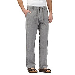 RJR.John Rocha - Grey linen blend trousers