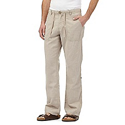 RJR.John Rocha - Big and tall beige linen blend trousers