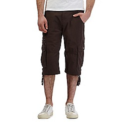 RJR.John Rocha - Brown basketweave print three quarter length cargo shorts