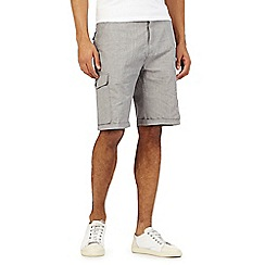 RJR.John Rocha - Big and tall grey semi checked shorts
