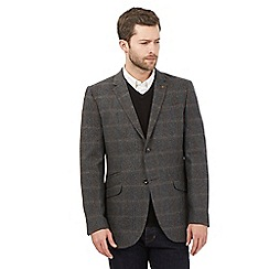 RJR.John Rocha - Big and tall grey checked single breasted blazer