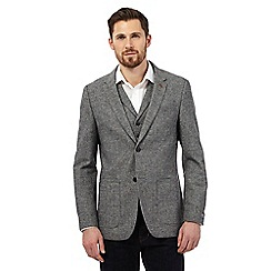 RJR.John Rocha - Big and tall grey micro checked blazer