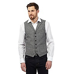 RJR.John Rocha - Big and tall grey micro checked waistcoat