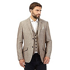 RJR.John Rocha - Big and tall brown textured linen jacket