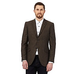 RJR.John Rocha - Brown textured Donegal wool blend jacket