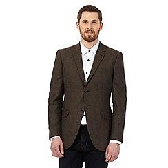 RJR.John Rocha - Brown textured Donegal wool blend jacket