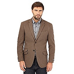 RJR.John Rocha - Big and tall brown single breasted blazer