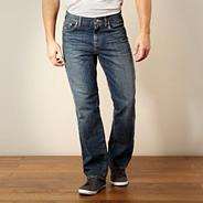 Big and tall designer blue regular fit jeans